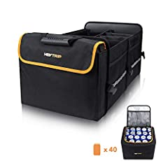 【Durable Materials & Sturdy Structure】The exterior layer of this trunk organizer is constructed of 600D water-resistant Oxford polyester which can withstand the heavy use and easy to clean. The inner layer is built with 2mm PE boards instead of cardb...