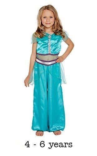 HENBRANDT Costume da Principessa araba per Bambini di Piccola Taglia età 4 - 6 Anni