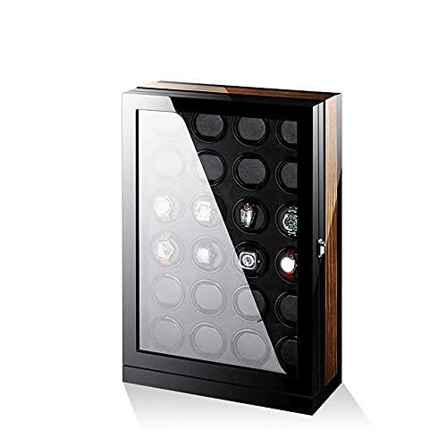 Mira los sinyerios, Mirando sinuosos for 24 Relojes en Silencio, Caja de guardamada automática Caja de Almacenamiento de Madera Negro, Reloj Bander WTZ012