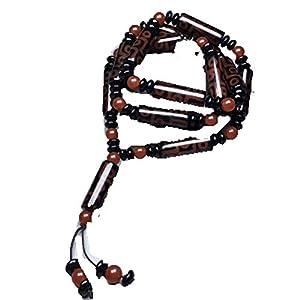 Antique Crafts Collection Halskette mit Anhänger Achat 9 Augen Old Dzi