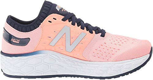 New Balance Women's Fresh Foam Vongo V4 Running Shoe, Peach Soda/Natural Indigo, 9 M US