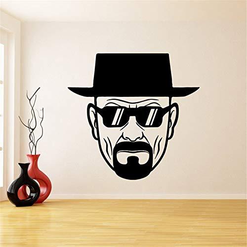 Heisenberg Bösen zonnebrillen deco sticker Serious Walter White Muursticker Wanddecoratie 57.9x57.9 cm