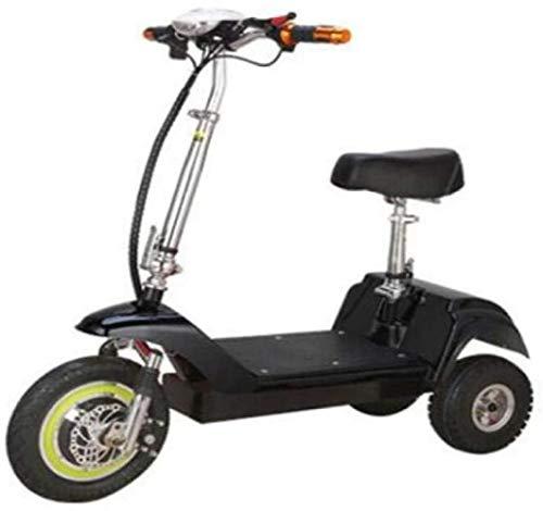 Motocicleta plegable mini coche eléctrico, Adulto de dos ruedas Mini Pedal Coche eléctrico, litio portátil plegable recorrido de la batería de batería de coche, motocicleta al aire libre recorrido de