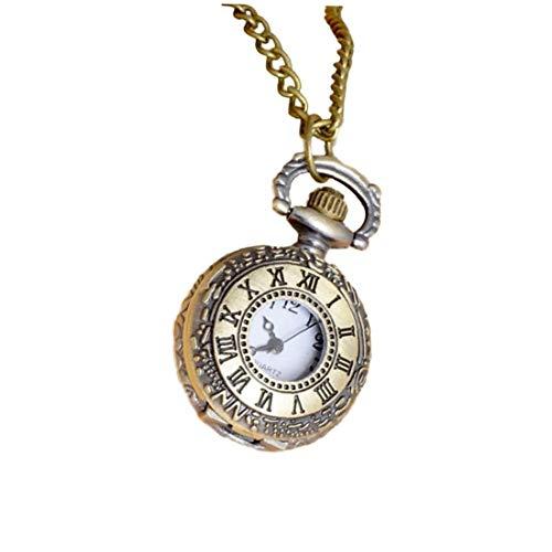 NAISECORE 1pc Klassische Taschen-Uhr-Weinlese Römische Anhänger Halskette Uhr Geschenk Für Pocket Bronze