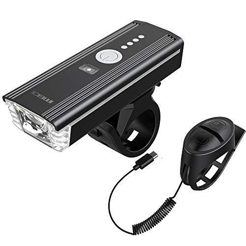 MEIDI LED Luces Bicicleta Recargable USB,luz Delantera Bicic