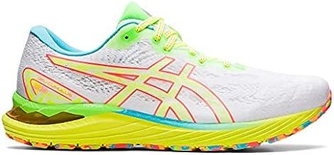 ASICS Men's Gel-Cumulus 23 Running Shoes, 11.5, White/Safety Yellow