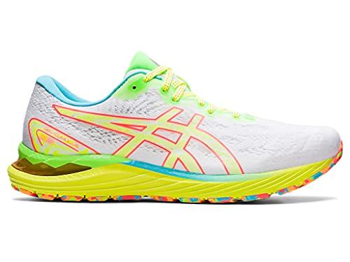 ASICS Men's Gel-Cumulus 23 Running Shoes, 14, White/Safety Yellow