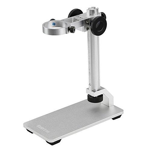 koolertrol Mikroskop ständer, Aluminiumlegierung Mikroskop Halter Einstellbare Basis Ständer Desktop Unterstützung Halterung für USB Digital Mikroskop