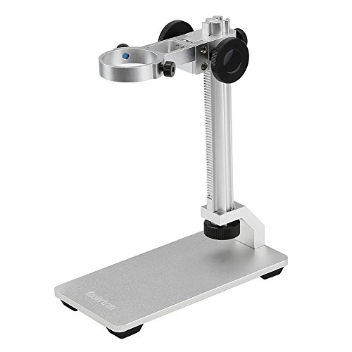 Koolertron Aluminum Alloy Microscope Stand Portable Adjustable Manual Focus Digital USB Microscope Holder Support Adjusted Up and Down