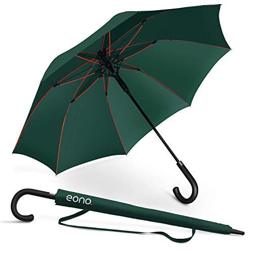 Amazon Brand - Eono Paraguas Grande Antiviento para Hombre y Mujer Automático Abierto Para 2 Personas Paraguas Resistente al Viento de Golf Originale Impermeable Paraguas clásicos