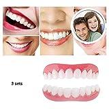 BD.Y Portátil 3 Pares de carillas de Sonrisa instantánea Superior Inferior a presión en cosméticos Set de Maquillaje de Dientes Seguro Sonrisa Segura Falso Tooth reemplazo
