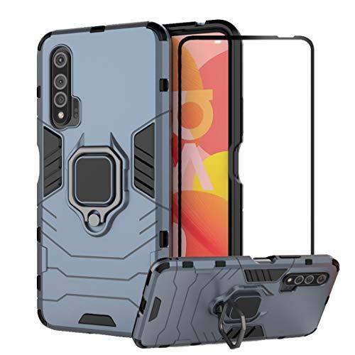 mvced Funda para Huawei Nova 6 Case Cover Protector de Pantalla de Cristal Templado con Pie De Apoyo,…