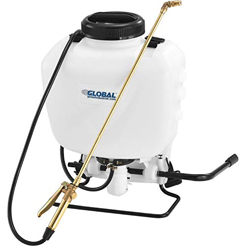 Global Industrial 4 Gallon Commercial Duty Manual Backpack Pump Sprayer W/Brass Wand & Nozzle