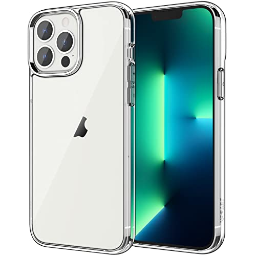 JETech Hülle Kompatibel mit iPhone 13 Pro 6,1 Zoll, Stoßfeste Stoßstange handyhülle, Anti-Kratzt Transparent Rückseite, HD Klar