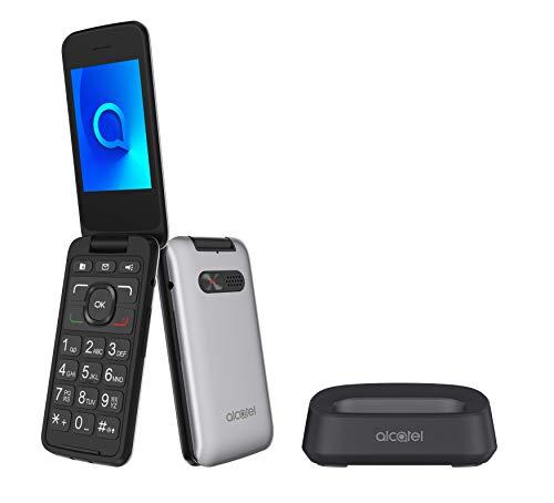 Alcatel 3026X-2BALWE1 30.26, mobiltelefon, 2.8, metalliskt silver