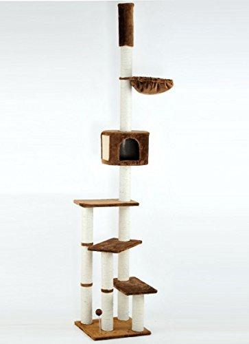animal-design Katzen-Kratzbaum Kitty mit Katzen-Höhle & Liegeflächen deckenhoch XXL, Farbe:braun 101