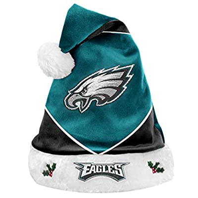 FOCO Colorblock Santa Hat - Limited Edition Santa Hat - Represent The NFL- Show Your Team Spirit with Officially Licensed Football Holiday Fan Gear