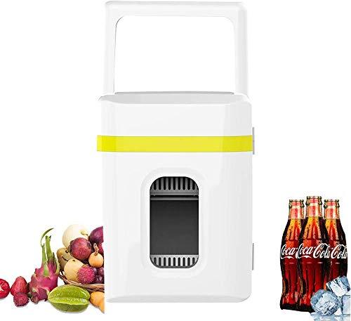 FXPCQC 10L Tragbare KüHlbox,Mini KüHlschrank Lautlos,Cool Kid GeträNkeküHlschrank,Mini-Bar KüHlschrank,Geringer Energieverbrauch,Leiser Betrieb,Yellow