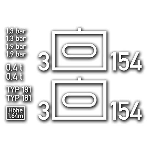 Aufkleber Set für Bundeswehr 181 Kübelwagen BW Taktisches Zeichen#A4903