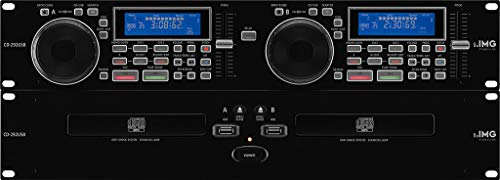 IMG STAGELINE CD-292USB, professioneller DJ-CD- und MP3-Spieler mit USB2.0-Schnittstelle, 19 Zoll CD-Player mit Anti-Shock System, MP3-Player mit Speed-Search für Tracks und Ordner, in Schwarz 212790