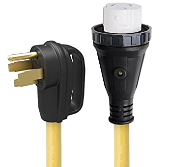 ParkPower 50ARVD25 Detachable Power Cord With Handle and Indicator Light - 50A 25