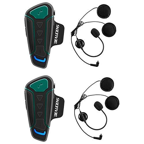 BEAUDENS Motorcycle Bluetooth Headset, 1200m Range 3 Riders WT003 Helmet...