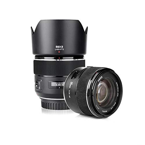 Meike 85mm f1.8 Großer Full Frame Autofokus Prime Teleobjektiv für EOS EF Mount Kamera kompatibel mit APS-C Organisationen wie 1D 5D3 5D4 6D 7D 70D 550D 80D by Zenith Digital Bay