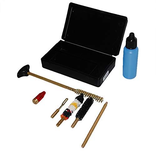 Flachberg Waffenpflegeset 9mm Luger/ 38 Special / 357 Magnum Waffenreinigungsset Laufreiniger Putzstock mit 1/8 Zoll Pocket Size Pistol Cleaning Kit Pufferpatrone 9mm