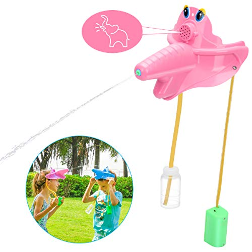 JOHEALS Water Toys for Kids Water Sprinkler for Kids Water Guns Hat for Kids Outdoor Toys Yard Games Elephant Mask Remote Controlled with Real Elephant Sound Water Game Outdoor Best Gift Boy Girl