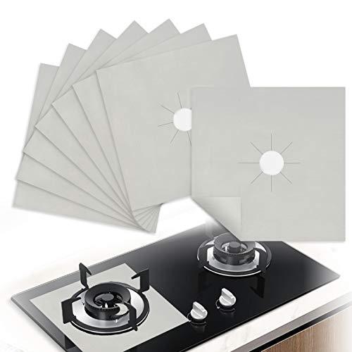 Hua Hao 8 Piezas Protectores de Cocina de Gas,Reutilizable Lavable Protectores de Cocina Tapete para encimeras,Tapetes para Estufas de Gas Cubiertas para cocinas de Gas