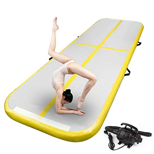 Product Image of the FBSPORT Inflatable Air Gymnastics Mat Training Mats 4/8 inches Thickness...