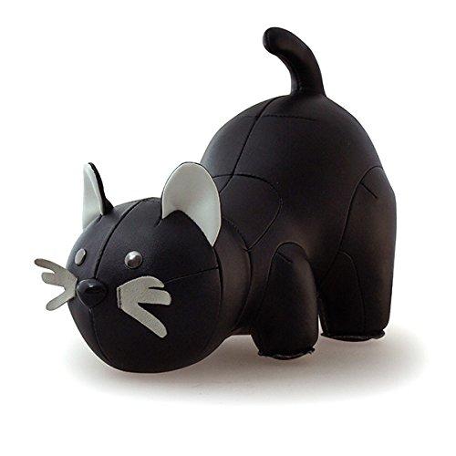Züny zueny Gatto del Libro e porta Stopper nero (Cat Black & White)