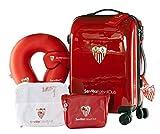 Sevilla Fútbol Club - Pack de Viaje Maleta y Accesorios - Producto Oficial del Equipo Temporada...