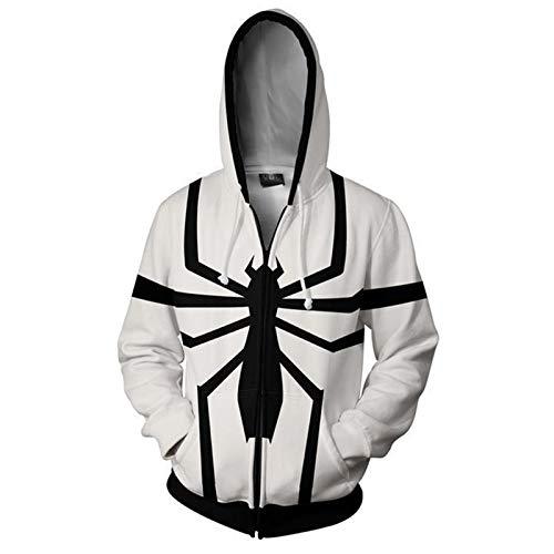 Cosplay Venom Spiderman Felpe Pullover Felpe Bambino Adulti Stampa 3D Antivento Costumi Giacca Casual per Il Compleanno Regalo di Natale,B-Medium