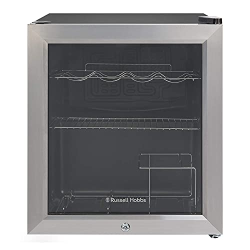 Russell Hobbs Table Top Wine & Drinks Cooler with Lock & Key, 12 bottle capacity, RHGWC3SS-C-LCK, Stainless Steel