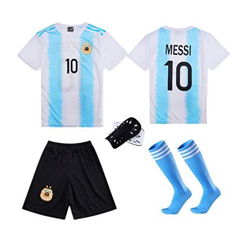 LJHCR Jersey de Fútbol Nacional Argentina/Portugal Children se unen, Ronaldo Nº 7 Ventilador Versión Jersey con Calcetines + pantorrilleras White-XL