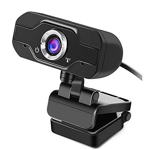 WJY Cámara Web 1080P con Micrófono, USB Plug and Play Cámara Giratoria PC de Escritorio Portátil Cámara Web USB HD para Videollamadas, Estudios, Conferencias, Grabación