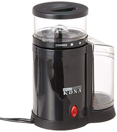 KONA Electric Burr Grinder | French Press Grinder That Produces Consistent Coarse To Medium Grinds From Metal Burrs, Small Coffee Mill Saves Space On Any Counter Top