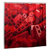 N/A Fashion Duschvorhang, wasserdicht, 152,4 x 182,9 cm, Lego Makro, abstrakte Spielzeuge
