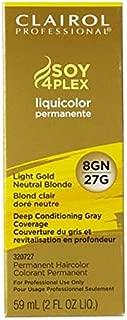 Clairol Professional Liquicolor 8GN/27G Light Golden Neutral Blonde, 2 oz (Pack of 2)