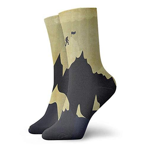 Unisex Climbing Everest Top Classic Crew Socks Breathable Fantasy Ankle Running Hiking Socks-Weekend Sport Athletic Socks Short Crew Socks 30 cm
