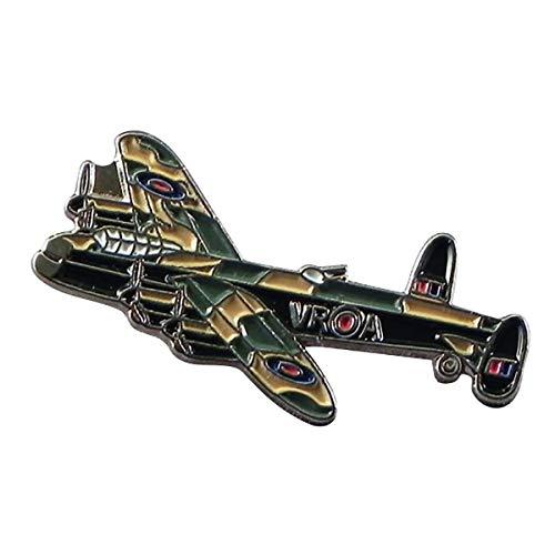 WW2 Avro Lancaster Bomber Fighter Aeroplane Metal Enamel Pin Badge Lapel Brooch RAF Military plane