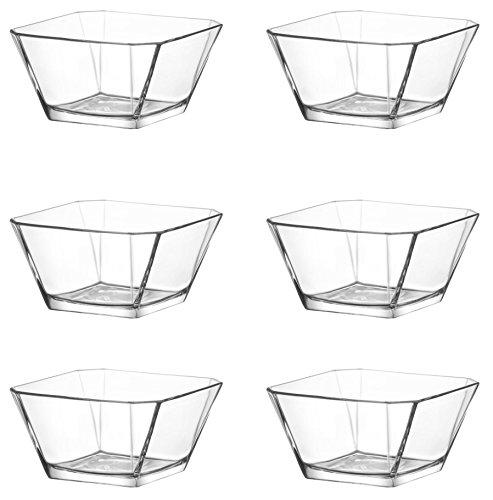 technic24 LAV 6tlg Glasschalen Schalen Glasschale Dessertschale Vorspeise Glas Gläser 300ml