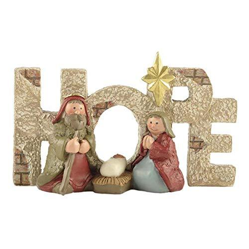Christ Birth of Jesus Ornament, Bring Hope Miniature Presepe Ornamento Figure Regali Scene da Tavolo, Gesù Bambino Natività Artigianato in Resina per Soggiorno Decorazione Desktop