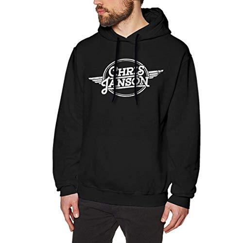 Chris Janson Hoodies Men's Hoodie Sweater Fashion Long Sleeve Top Hooded Sweatshirt Hoodies,Black,XX-Large