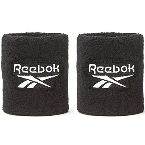 Reebok Wristbands, Polsiere Sportive Unisex-Adult, Nero, Corto