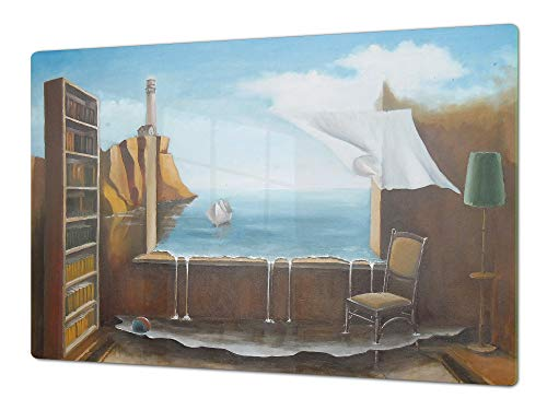 Gigantisch snijplank en keukenblad - Glazen keukenbord;Enkel: 80 x 52 cm (31,5