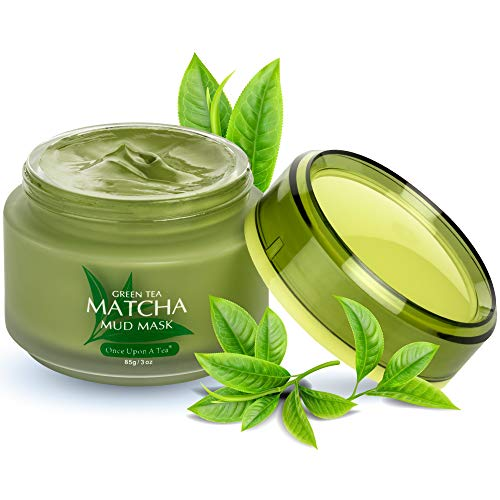 Green Tea Matcha Facial Mud Mask, Removes Blackheads, Reduces...