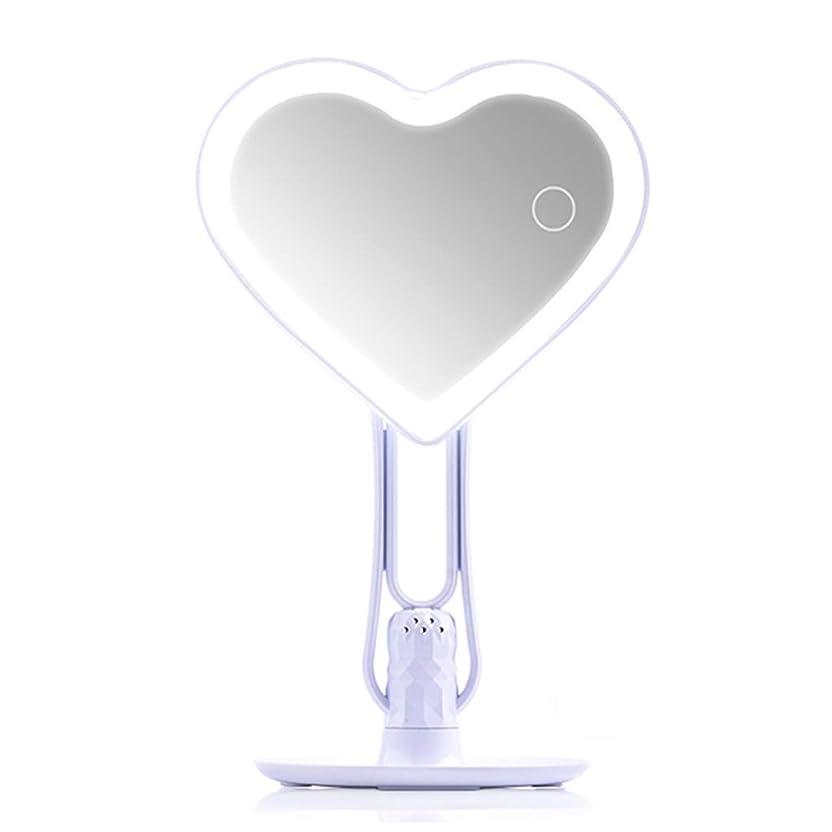 カウンタ先入観境界LED照明付き化粧用化粧鏡充電式、調光対応タッチスクリーン、ポータブル卓上照明付き化粧鏡