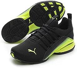 PUMA Axelion Running Shoe, Black-Yellow Alert, 7 US Unisex Big Kid